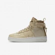 Nike SF Air Force 1 Lifestyle Shoes Boys Mushroom/Light Bone (636PZNUY)