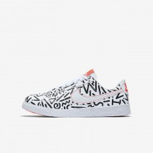 Nike Blazer Lifestyle Shoes For Boys White/Black/Bright Crimson (642NRBJY)