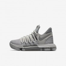 Nike Zoom KDX Basketball Shoes Boys Wolf Grey/Cool Grey (649MIJNT)