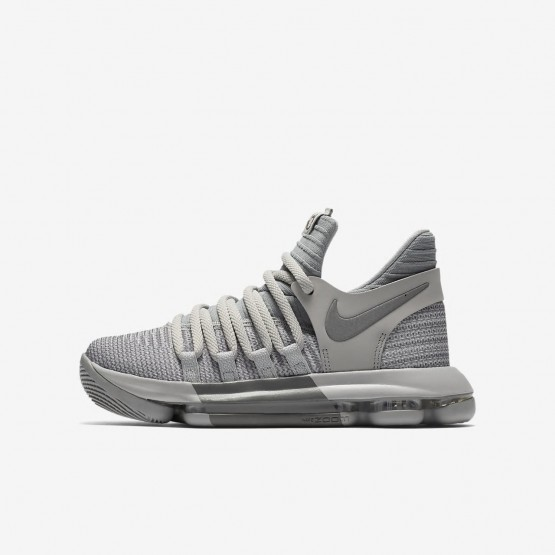 Nike Zoom KDX Basketball Shoes For Boys Wolf Grey/Cool Grey (649MIJNT)