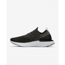 Nike Epic React Flyknit Running Shoes For Women Black/Dark Grey/Wolf Grey/White (656ZDOGY)