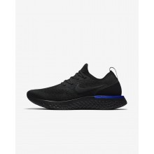 Nike Epic React Flyknit Running Shoes Womens Black/Racer Blue (682HYAVC)