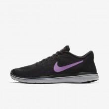 Nike Flex 2017 RN Running Shoes For Women Black/Hyper Magenta/Wolf Grey/Fuchsia Glow (682XFJYT)