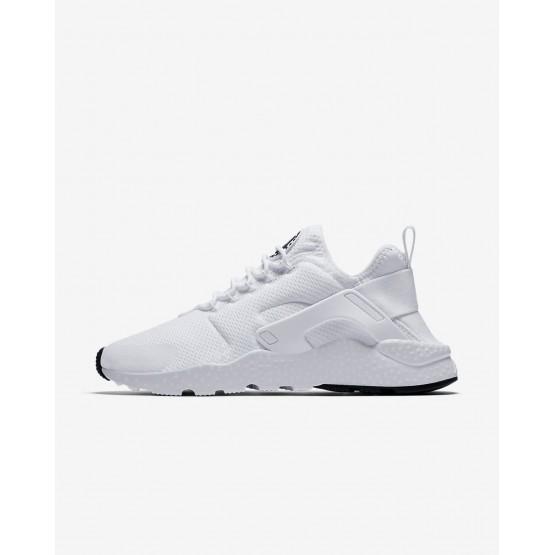 Chaussure Casual Nike Air Huarache Femme Blanche/Noir (683NSOZB)
