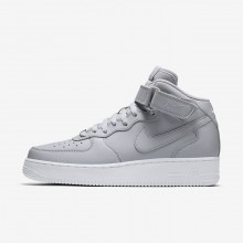 Nike Air Force 1 Lifestyle Shoes For Men Wolf Grey/White (685SBKCX)