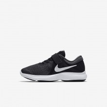 Nike Revolution 4 Running Shoes Girls Black/Anthracite/White (690LJDSQ)