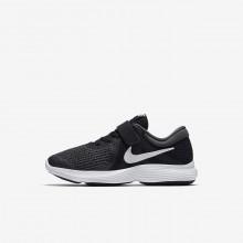 Nike Revolution 4 Hardloopschoenen Meisjes Zwart/Wit (690LJDSQ)