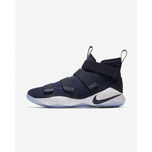 Nike LeBron Soldier XI Basketball Shoes For Women College Navy/White/Team Red (694NYRMD)