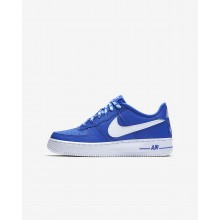 Nike Air Force 1 Lifestyle Shoes For Boys Game Royal/White (698GLOUY)