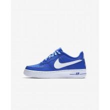 Nike Air Force 1 Lifestyle Shoes Boys Game Royal/White (698GLOUY)
