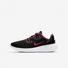 Nike Hakata Lifestyle Shoes For Girls Black/White/Rush Pink (703EHPKY)