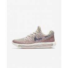 Nike LunarEpic Low Running Shoes For Women Pale Grey/Sunset Glow/Taupe Grey/Metallic Silver (706FQZOT)