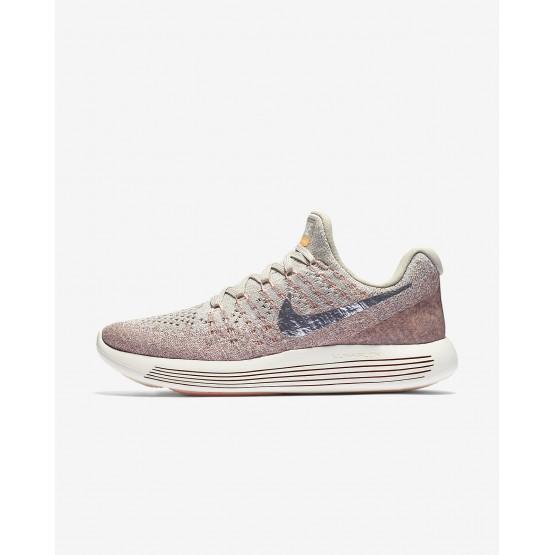 Nike LunarEpic Low Running Shoes For Women Pale Grey/Sunset Glow/Taupe Grey/Metallic Silver (706FQZOT)