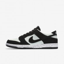 Nike SB Dunk Skateboarding Shoes For Men Black/Barely Green/White (707IGBEA)