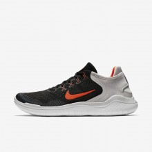 Nike Free RN Running Shoes For Men Black/Vast Grey/White/Total Crimson (708IOCQV)