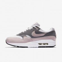 Nike Air Max 1 Lifestyle Shoes Womens Vast Grey/Gunsmoke/Black/Particle Rose (716ENZMR)