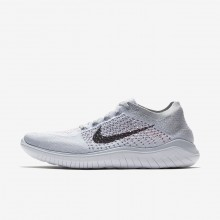 Nike Free RN Running Shoes For Men Pure Platinum/White/Wolf Grey/Black (725DPHWK)