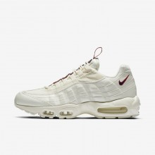 Nike Air Max 95 Lifestyle Shoes For Men Sail/Gym Red/Gym Blue (725IWEZY)