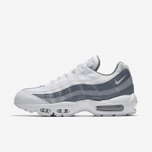 Nike Air Max 95 Lifestyle Shoes For Men White/Cool Grey/Wolf Grey (727FKVOW)