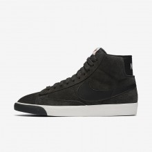 Nike Blazer Mid Lifestyle Shoes Womens Anthracite/Ivory/Gum Medium Brown/Black (728ULVZE)