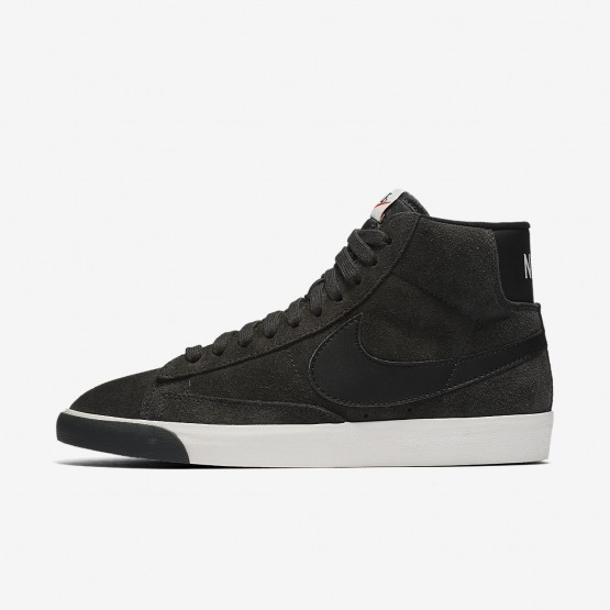 Nike Blazer Mid Lifestyle Shoes For Women Anthracite/Ivory/Gum Medium Brown/Black (728ULVZE)