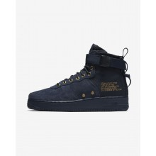 Nike SF Air Force 1 Lifestyle Shoes For Men Obsidian/Black (730XJTYS)