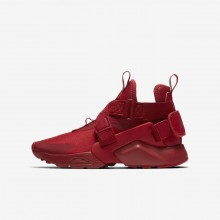 Nike Huarache Lifestyle Shoes Boys Gym Red/White/Black (731LZRPK)