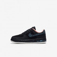 Nike Air Force 1 Lifestyle Shoes Boys Black/Crimson Pulse/Summit White/Lagoon Pulse (732LRXOH)