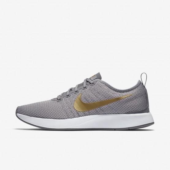 Nike Dualtone Racer Lifestyle Shoes Womens Gunsmoke/Atmosphere Grey/White/Metallic Gold (736SIQCV)