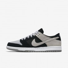 Nike SB Dunk Skateboarding Shoes Mens Black/White/Wolf Grey (741ILRHC)