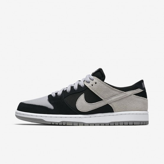 Nike SB Dunk Skateboarding Shoes For Men Black/White/Wolf Grey (741ILRHC)