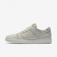 Nike SB Zoom Dunk Skateboarding Shoes For Men Light Bone/Summit White/Khaki (742IOHPA)