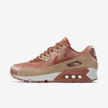 Nike Air Max 90 Lifestyle Shoes For Women Dusty Peach/Bio Beige/Summit White (742VZYEM)