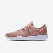 Nike Free TR Training Shoes Womens Rust Pink/White/Coral Stardust (754YJZIN)