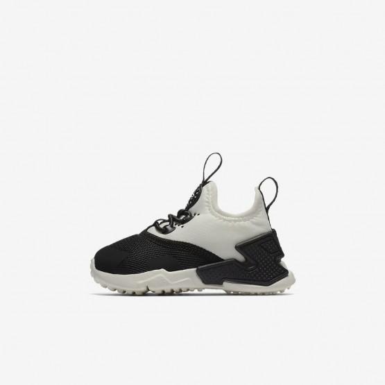 Nike Huarache Lifestyle Shoes Girls Black/White/Sail (758WPENS)