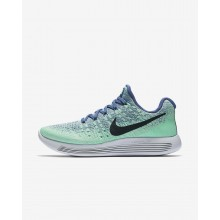 Nike LunarEpic Low Running Shoes Womens Blue Moon/Vapor Green/Green Glow/Dark Obsidian (760OTNMD)