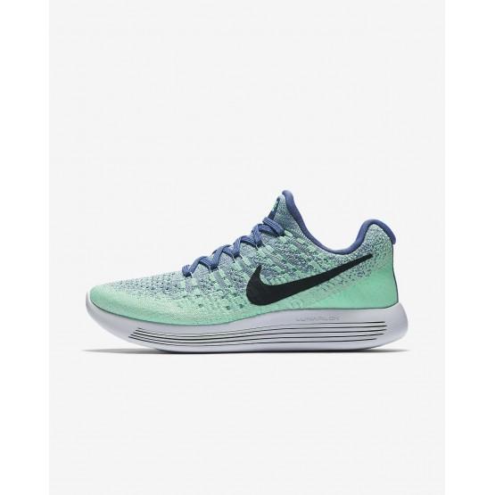 Nike LunarEpic Low Running Shoes For Women Blue Moon/Vapor Green/Green Glow/Dark Obsidian (760OTNMD)