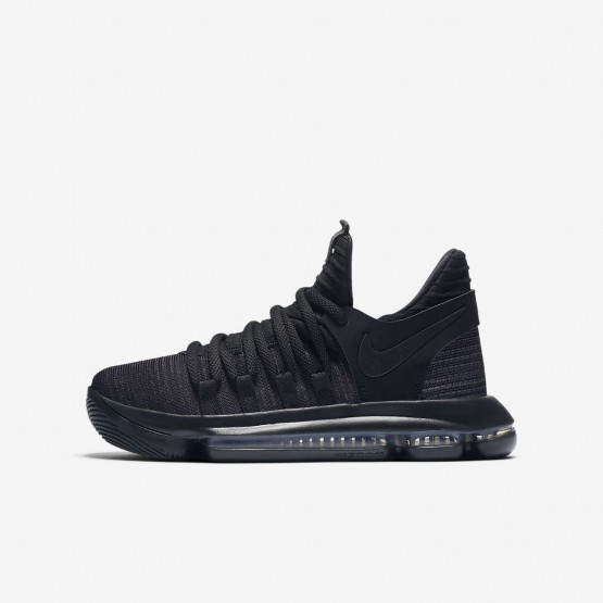 Nike Zoom KDX Basketball Shoes For Boys Black/Dark Grey (761HVSJX)