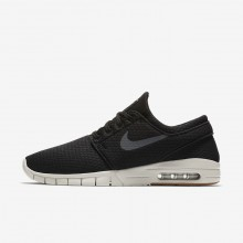 Nike SB Stefan Janoski Max Skateboarding Shoes Mens Black/Gum Medium Brown/Light Bone/Dark Grey (762HETVO)