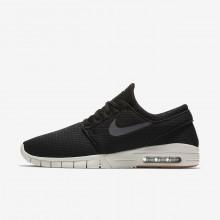 Nike SB Stefan Janoski Max Skate Schoenen Heren Zwart/Bruine/Licht/DonkerGrijs (762HETVO)