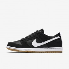 Nike SB Dunk Skateboarding Shoes For Men Black/Gum Light Brown/White (766XZGOL)