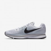 Nike Air Zoom Running Shoes For Men White/Pure Platinum/Wolf Grey/Anthracite (770YXWJN)
