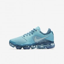 Nike Air VaporMax Running Shoes For Boys Bleached Aqua/Noise Aqua/Glacier Blue (773OHBAF)