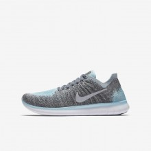 Nike Free RN Running Shoes For Boys Metallic Silver/Cool Grey/Dark Grey/Reflect Silver (774TGRCY)
