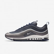 Nike Air Max 97 Lifestyle Shoes Mens Navy/Light Carbon/White (776FEQDP)