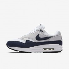 Nike Air Max 1 Lifestyle Shoes For Women White/Pure Platinum/Black/Obsidian (780HPRZI)