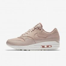 Nike Air Max 1 Lifestyle Shoes Womens Particle Beige/Particle Pink/Summit White (781SKUYG)