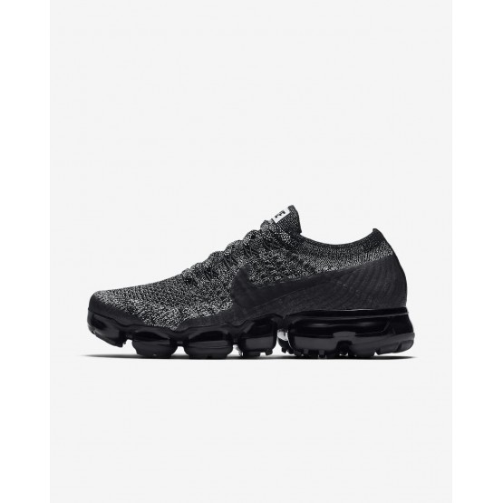 Nike Air VaporMax Running Shoes Womens Black/White/Racer Blue (783AGXYN)