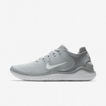 Nike Free RN Running Shoes For Men Wolf Grey/White/Volt (791PDHMN)