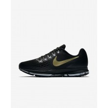 Nike Air Zoom Running Shoes Womens Black/Anthracite/White/Metallic Gold Star (795CFENA)